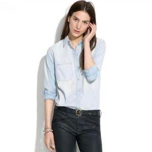 Madewell Chambeay Denim Buttonup Shirt M